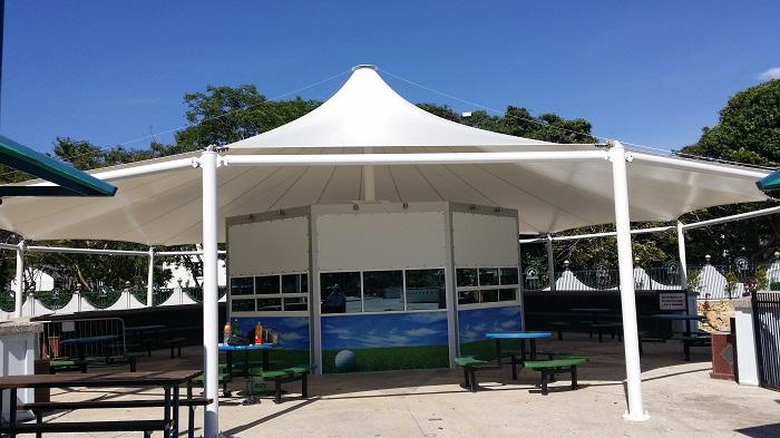 & Royal Brunei Jerudong Park landscape membrane canopy